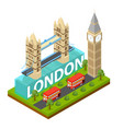 london city famous landmark of capital england vector image