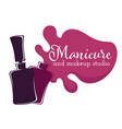 manicure and pedicure studio isolated icon varnish vector image