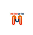 marriage service icon vector image