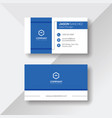 modern business card with blue details vector image vector image