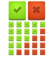 modern yes and no icons set vector image vector image
