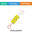 Party petard icon vector image