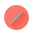 Pen Flat Circle Icon vector image