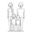 people characters cartoon vector image vector image