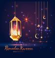 ramadan kareem islamic with 3d cute vector image vector image