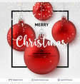 red shiny christmas balls on light background vector image vector image
