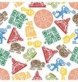 seamless pattern mayan and aztec ornament vector image vector image