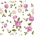 seamless texture pastel roses for textiles vector image