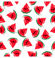 seamless watermelons pattern vector image vector image