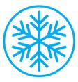 snowflake 05 vector image vector image