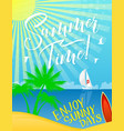 summer holiday banner for vacation and sea travel vector image vector image