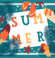summer ice cream cafe typographic poster vector image