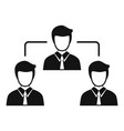 teamwork icon simple style vector image vector image