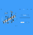 travel agency conceptual landing page vector image