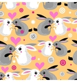 Valentine pattern of rabbits vector image