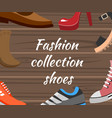 vanners with different shoes collection vector image