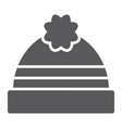 winter hat glyph icon clothing and warm cap sign vector image vector image