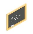 Chalkboard isometric 3d icon vector image