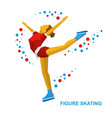 ladies figure skating skating girl training vector image