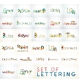 lettering words vector image