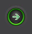 circle dark glossy arrow button vector image