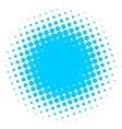 Abstract halftone circle vector image vector image