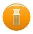 antique column icon orange vector image vector image