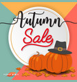 autumn sale banner background design vector image vector image