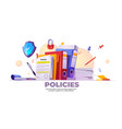 banner policies rules and agreement vector image