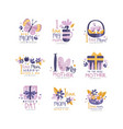 best mom logo design set happy mothers day vector image vector image