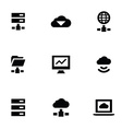 big data 9 icons set vector image