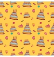 Birthday background on yellow vector image