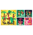brazilian samba posters carnival in rio de vector image