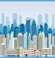 buildings and skyscrapers background vector image vector image