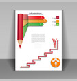 Business booklet with arrows and pencil vector image vector image