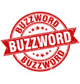 buzzword round grunge ribbon stamp vector image vector image