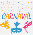 carnaval banner vector image vector image