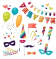 celebration carnival set icons and objects vector image