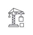 civil construction crane line icon concept civil vector image vector image