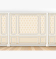 classic interior with moldings and pilasters vector image vector image