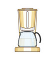 coffee maker on white vector image