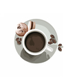 Coffee or Tea cup with Macaroons vector image vector image