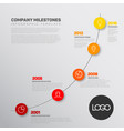 company infographic timeline report template vector image vector image