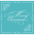 decorative merry christmas wording 0110 vector image vector image