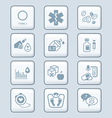 Diabetes icons - TECH series vector image vector image