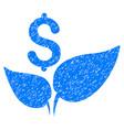 eco startup icon grunge watermark vector image vector image