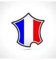 france flag and map icon vector image