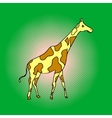 Giraffe pop art vector image vector image