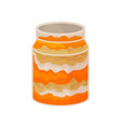 glass jar with homemade pumpkin dessert vector image vector image