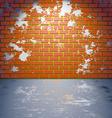 Grungy brick wall vector image